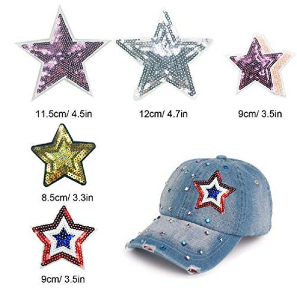 Woohome Airsoft Morale Patch 2 Woohome 31 PCS Assorted Star Iron on Patches Sew on Patches Embroidered Appliques for DIY Clothing Accessories