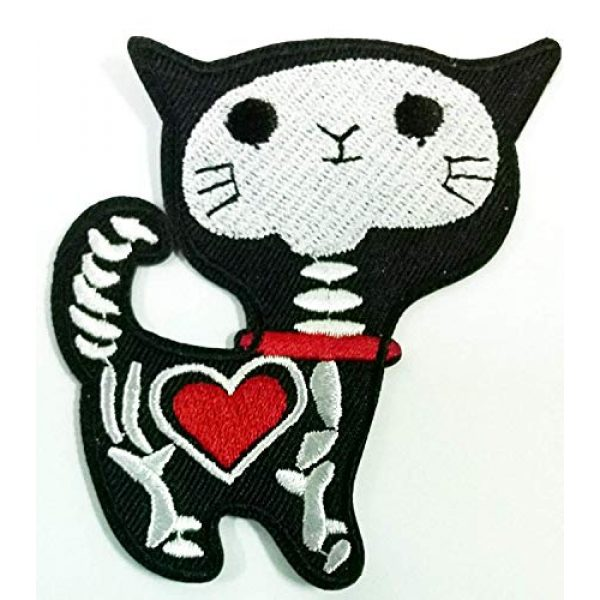 Funny Airsoft Morale Patch 1 Pack of 3 Shock Skeleton Skull X-ray Cat Kitty Funny Cartoon DIY Applique Embroidered Sew Iron on Patch