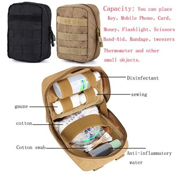 AOCKS Tactical Pouch 4 AOCKS Tactical MOLLE EMT Medical First Aid IFAK Blowout Utility Pouch Belt Waist Bag with Cell Phone Holster Holder