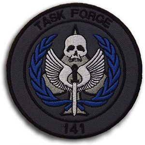 Kseen Airsoft Morale Patch 1 Task Force 141 Logo Call of Duty Embroidered Tactical Patches SAS Badge Emblem Morale Applique with Hook&Loop Fastener for Sew On Military Jackets Caps Rucksacks (Blue)
