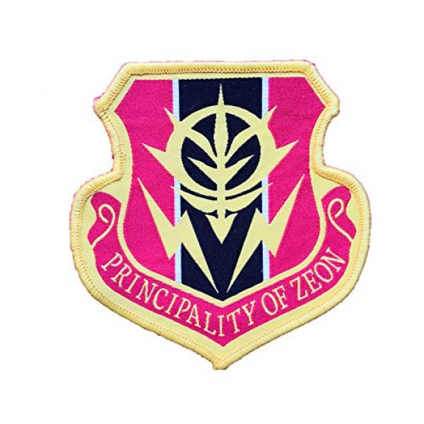 Generic Airsoft Morale Patch 1 Gundam Principality of Zeon Warfare Anime Airsoft Military Hook Loop Tactics Morale Embroidered Patch