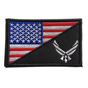 Hng Kiang Hu Airsoft Morale Patch 1 USAF Flag USA Air Force Logo Embroidered Military Tactical Hook & Loop Decorative Patch