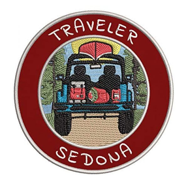 Appalachian Spirit Airsoft Morale Patch 1 Traveler! Sedona Embroidered Premium Patch DIY Iron-on or Sew-on Decorative Badge Emblem Vacation Souvenir Travel Gear Clothes Appliques Wildlife Explore Nature