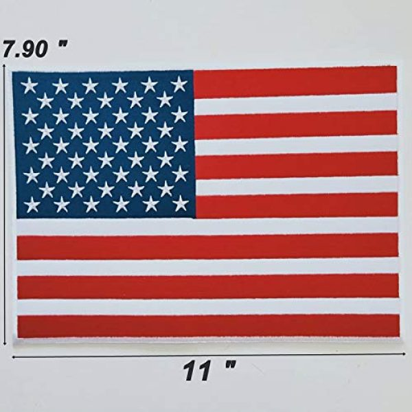 """Heavens Tvcz Airsoft Morale Patch 6 Heavens Tvcz Large XXL National Flag Embroidered Motorcycle for Men Women Teens Patches Thin Red White Line Morale Stars On Blue Background Tactical US Flag Worn Black United Jeans Women Patch 11"""" x 7"""