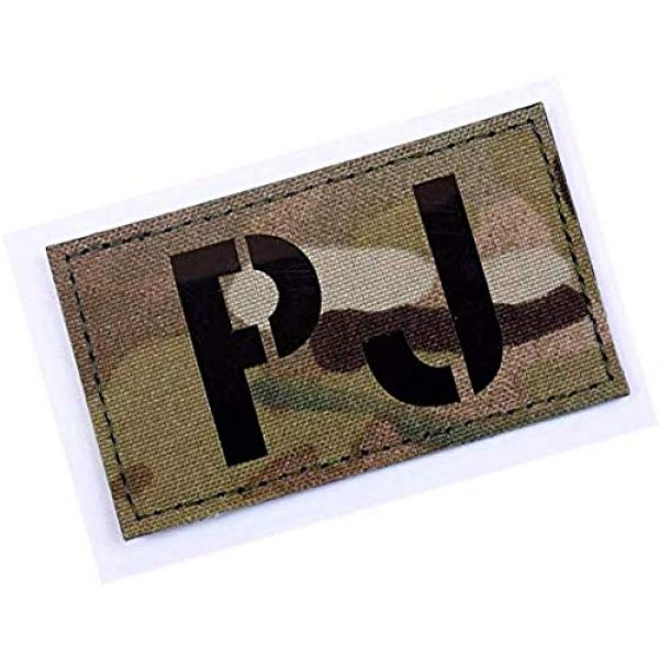 Embroidery Patch Airsoft Morale Patch 2 PJ Pararescue Jumper Military Hook Loop Tactics Morale Reflective IR Patch