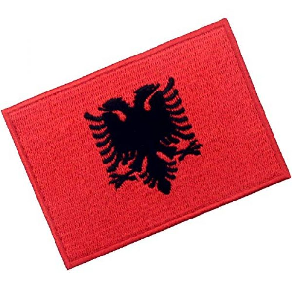 EmbTao Airsoft Morale Patch 3 EmbTao Albania Flag Patch Embroidered National Morale Applique Iron On Sew On Albanian Emblem