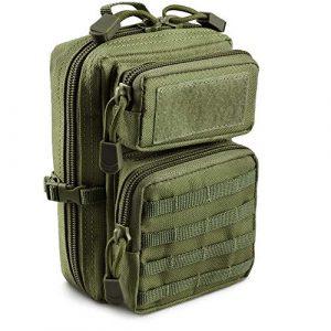 LIVANS Tactical Pouch 1 LIVANS Tactical Molle Utility Pouch, EDC Tool Pouch Tactical Phone Pouches Mini Waist Pouches Medical EDC IFAK Pack Mini Design of 3-Day Assault Backpack