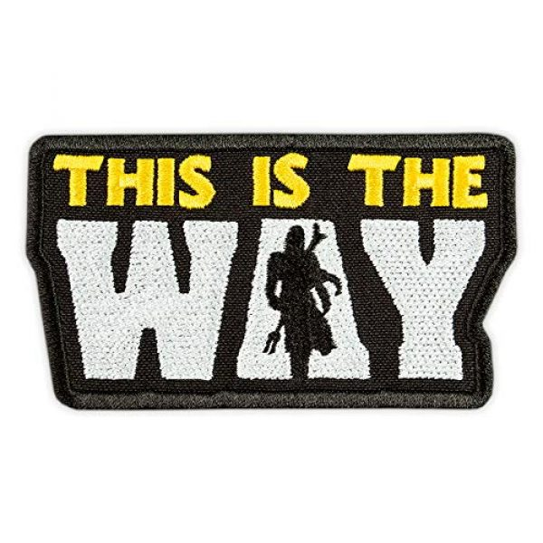 Embrosoft Airsoft Morale Patch 1 This is The Way Patch - Bounty Hunter Mandalorian - Star Wars TV Series Morale Emblem - Embroidered Iron On Patch - Size: 3.7 x 2.1 inches