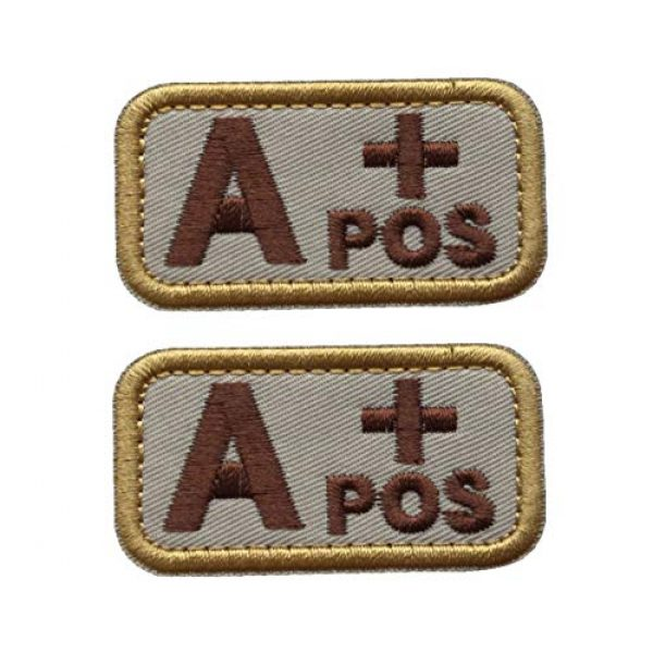 Unknown Airsoft Morale Patch 1 Patches 3D Embroidery Badge Tactics/B/O/AB + Blood Type Morality, Military Badge, Tactical Coat, Sewing Fabric - (Color: E)