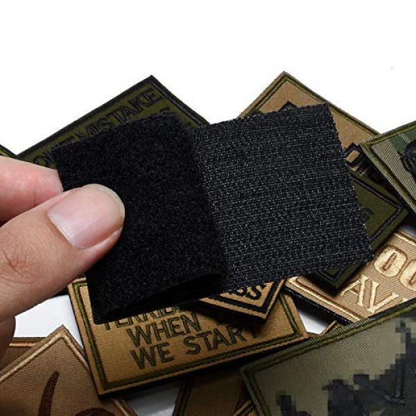 Butie Airsoft Morale Patch 2 Butie 18 Pack Tactical Morale Patches with Hook & Loop, Funny Military Backpack Hat Vest Patch Embroidery Army Badge Set for (RF-65)