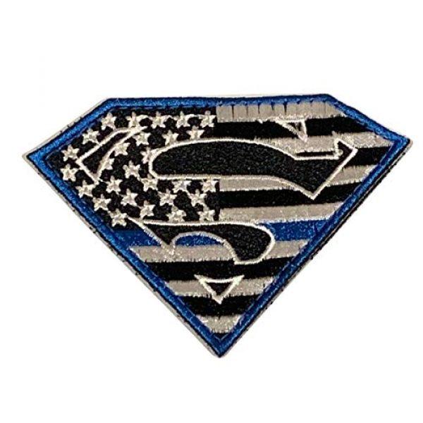 PakedDeals Airsoft Morale Patch 1 PakedDeals Superman Thin Blue Line Morale Patch Police Law Enforcement Blue Border