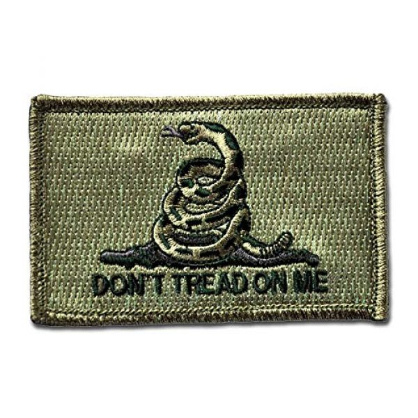 BASTION Airsoft Morale Patch 1 BASTION Morale Patches (Dont Tread On Me, ODG) | 3D Embroidered Patches with Hook & Loop Fastener Backing | Well-Made Clean Stitching Military Patches Ideal for Tactical Bag, Hats & Vest