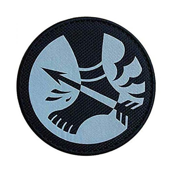 """Embroidery Patch Airsoft Morale Patch 2 SCP Foundation Special Containment Procedures Foundation SCP Mobile Task Forces Omega-12 Achilles' Heels"""" Military Hook Loop Tactics Morale Reflective Patch"""