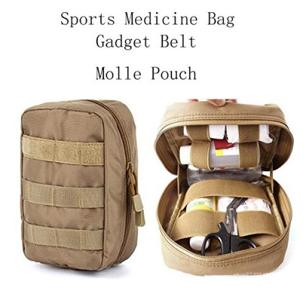 AOCKS Tactical Pouch 7 AOCKS Tactical MOLLE EMT Medical First Aid IFAK Blowout Utility Pouch Belt Waist Bag with Cell Phone Holster Holder