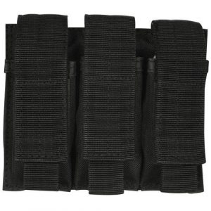 Fox Outdoor Tactical Pouch 1 Triple Pistol Mag Pouch Black