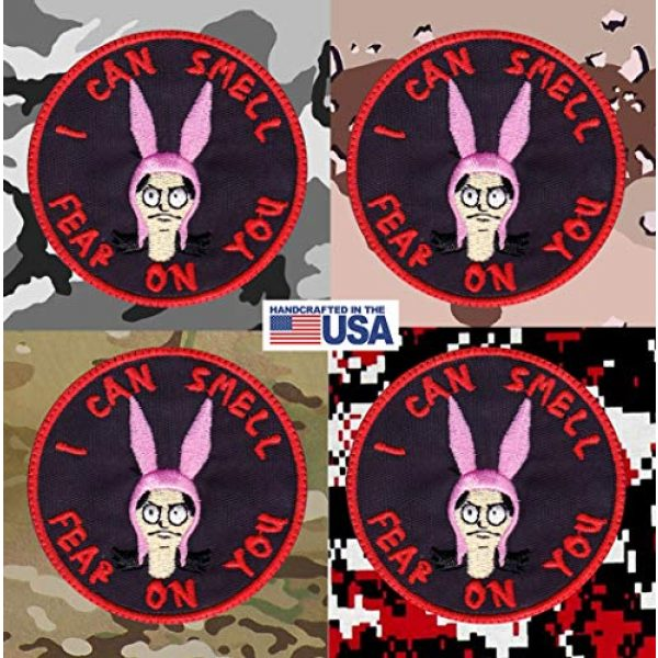 Tactical Patch Works Airsoft Morale Patch 4 Louise Belcher Smell Fear On You Inspired Art Patch