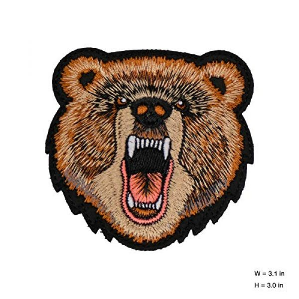WLKQ Airsoft Morale Patch 2 Wlkq Bear Patch Morale Tactical Military Hook and Loop Patches Perfect for Hats,Caps,Bags,Jackets,Backpacks,Embroidered Armbands Badges (wanppen-53)