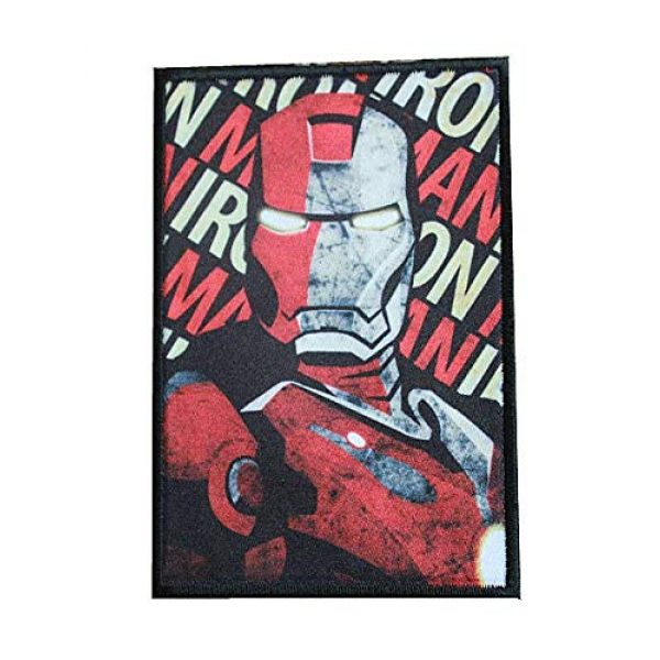 Fine Print Patch Airsoft Morale Patch 1 Iron Man Marvel Comics Military Hook Loop Tactics Morale Patch