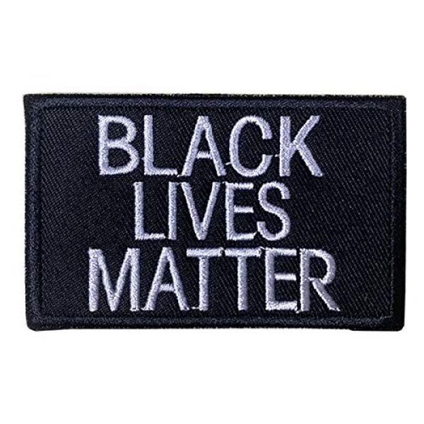 """Antrix Airsoft Morale Patch 1 Antrix Black Lives Matter Anti-Racial Discrimination Black Power Hook and Loop Embroidered Patch -3.15x2"""""""