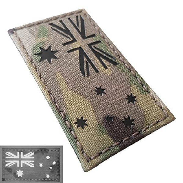 Tactical Freaky Airsoft Morale Patch 2 Australia Flag Multicam Infrared IR 3.5x2 IFF Tactical Morale Fastener Patch