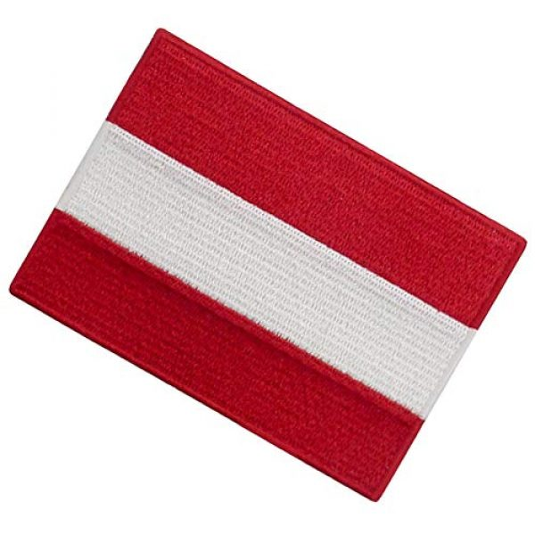 EmbTao Airsoft Morale Patch 4 Austria Flag Patch Embroidered Applique Iron On Sew On Austrian National Emblem