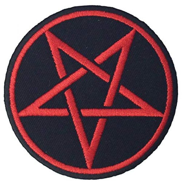 EmbTao Airsoft Morale Patch 3 Goth Pagan Symbols Pentagram Patch Embroidered Appique Iron On Sew On Emblem