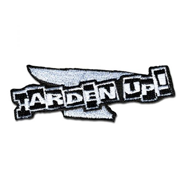 BASTION Airsoft Morale Patch 1 BASTION Morale Patches (Harden Up, BNW) | 3D Embroidered Patches with Hook & Loop Fastener Backing | Well-Made Clean Stitching | Military Patches Ideal for Tactical Bag, Hats & Vest