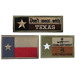 Homiego Airsoft Morale Patch 1 Homiego Texas State Flag Military Tactical Morale Desert Badge Hook & Loop Embroidery Patch for Hat Backpack Jacket (Texas State Flag - D)