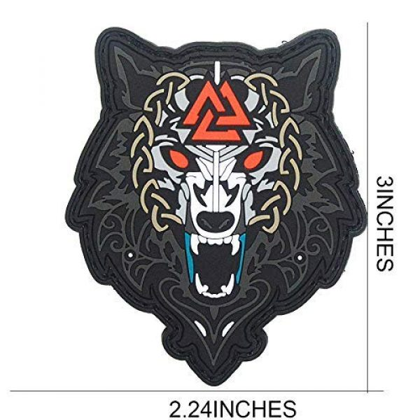 King Kong Somersault Airsoft Morale Patch 2 Viking Wolf of Odin Valknut PVC Morale Tactical Badge Patch