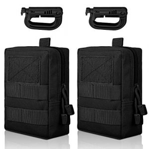 EEEKit Tactical Pouch 1 EEEkit Molle Pouch, Tactical Compact Waist Bags EDC Utility Pouch Bags with Hooks for Outdoor Hunting Camping Training