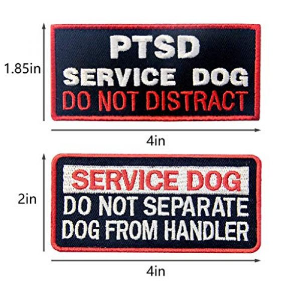 TailWag Planet Airsoft Morale Patch 4 Service Dog in Training Working No Touch PTSD Do Not Distract Vest/Harnesses Tactical Morale Patch Embroidered Badge Fastener Hook & Loop Emblem, 6 Pcs