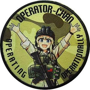 Fine Print Patch Airsoft Morale Patch 1 Girls' Frontline Operator Chan Military Hook Loop Tactics Morale Patch