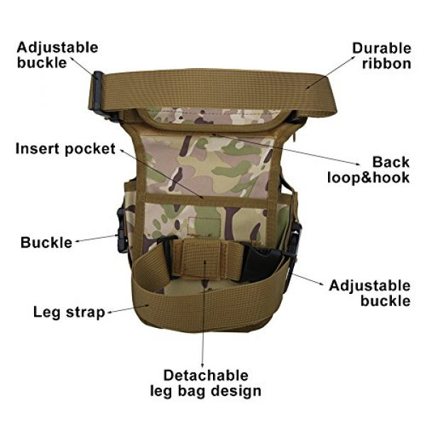 VGEBY Tactical Pouch 3 VGEBY Hunting Leg Pouch, Camouflage Drop Leg Thigh Packs Tactical Waist Pouch Satchel for Motorcycle Hunting Riding