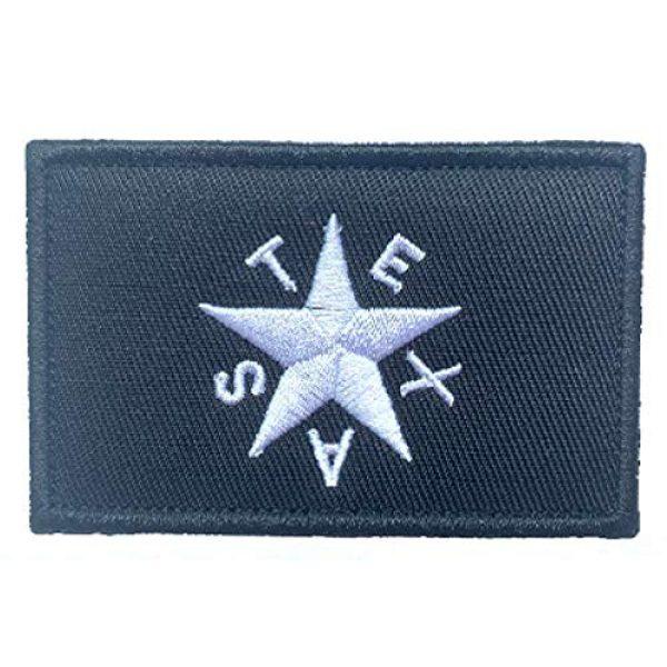 Antrix Airsoft Morale Patch 2 Antrix 2 Pcs Texas Star Tactical Military Embroidered Uniform Emblem Applique Patch Hook and Loop Emblem Patch for Backpacks Caps Hats Vests Bags