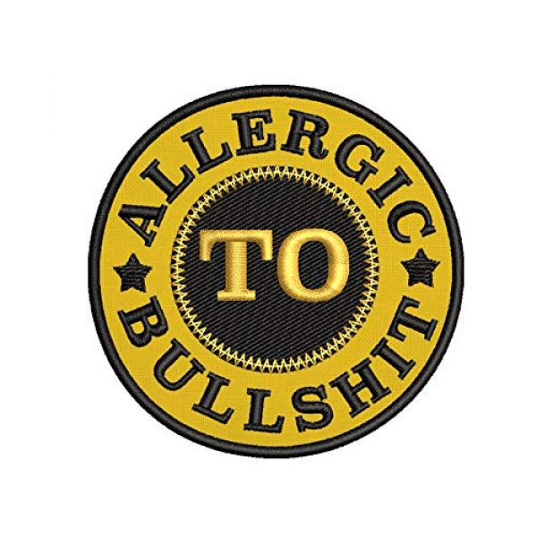 Appalachian Spirit Airsoft Morale Patch 1 Funny Allergic to Bullshit Applique Fastener Iron/Sew On Military Emblem Badge Morale Patch for Backpacks Caps Hats Bags Collection