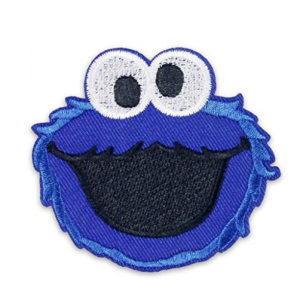 DOHAOOE Airsoft Morale Patch 1 Sesame Street Patch 1 Piece Cookie Monster Sew On/Iron On Patches for Jackets Backpacks Clothes Jeans Denim Hat Exquisite Embroidered Cartoon Applique DIY Decorations (Cookie Monster 1)