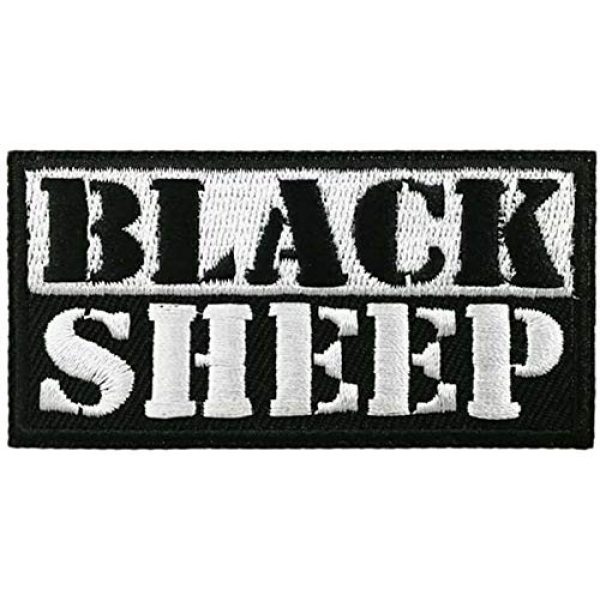 Eminent Domain Airsoft Morale Patch 2 Black Sheep Embroidered Patch 1.5 in x 3.5 in Iron on or Sew On Morale Patch