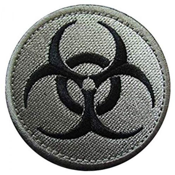 Embroidery Patch Airsoft Morale Patch 1 Resident Evil Biohazard Symbol Zombie Military Hook Loop Tactics Morale Embroidered Patch