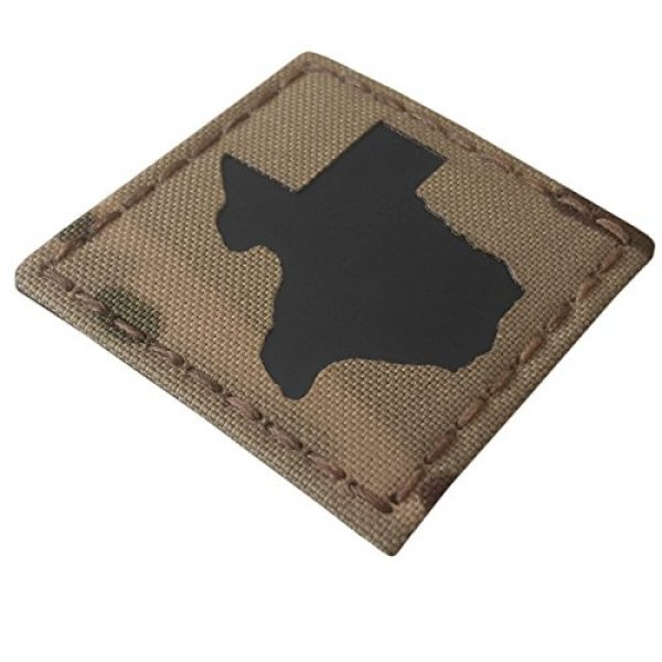 Tactical Freaky Airsoft Morale Patch 7 Texas Multicam Infrared IR 2x2 Tactical Morale Hook&Loop Patch