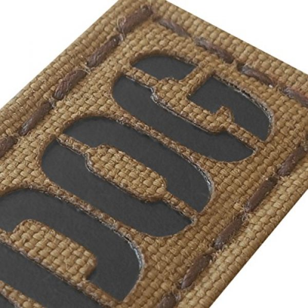 Tactical Freaky Airsoft Morale Patch 3 Sheepdog 1x3.5 Coyote Brown Tan Arid Infrared Name Tape Tab IFF Morale Hook&Loop Patch