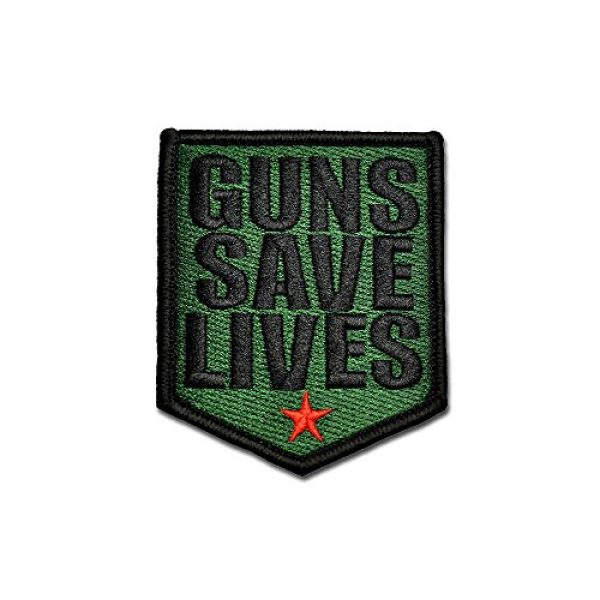 BASTION Airsoft Morale Patch 1 BASTION Morale Patches (Guns Save Lives, ODG) | 3D Embroidered Patches with Hook & Loop Fastener Backing | Well-Made Clean Stitching, Military Patches Ideal for Tactical Bag, Hats & Vest