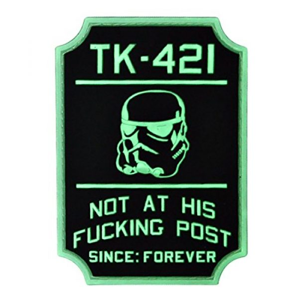 Violent Little Machine Shop Airsoft Morale Patch 1 TK-421 Glow-in-The-Dark Star Wars Morale Patch by Violent Little Machine Shop