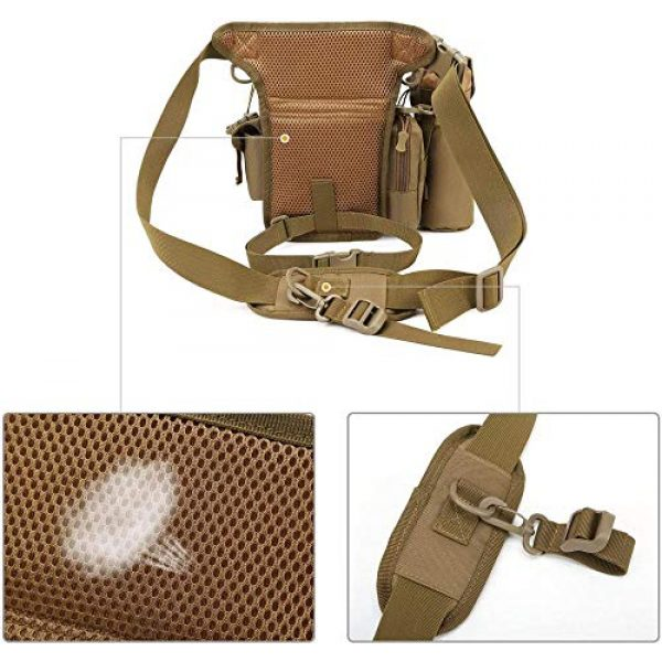 ACOMOO Tactical Pouch 6 ACOMOO Tactical Drop Leg Waist Bag Mens Outdoor Sport Thigh Hip Pack Utility Pouch Brown