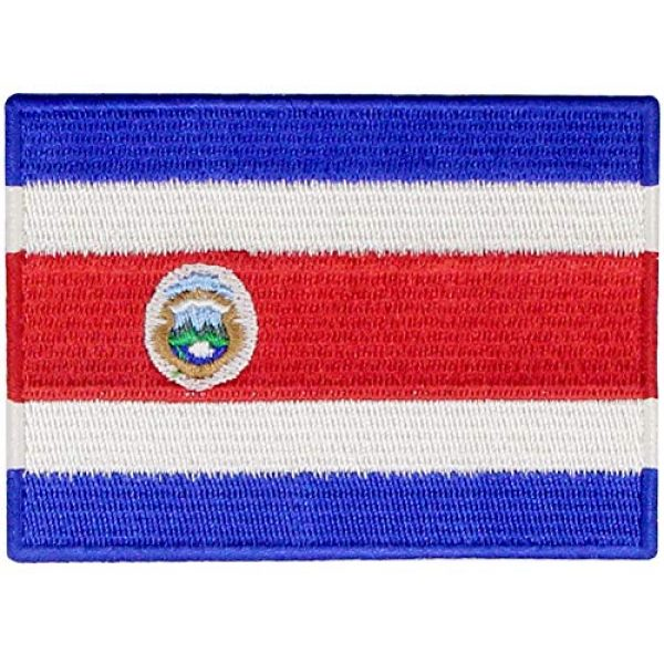 EmbTao Airsoft Morale Patch 1 The Republic of Costa Rica Flag Patch Embroidered Applique Costa Rican Iron On Sew On National Emblem