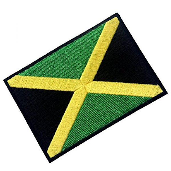 EmbTao Airsoft Morale Patch 3 Jamaica Flag Embroidered Emblem Rasta Jamaican Rastafarian National Iron On Sew On Patch