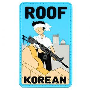 """Violent Little Machine Shop Airsoft Morale Patch 1 """"Roof Korean"""" Morale Patch by Violent Little Machine Shop - Tactical Velcro PVC"""