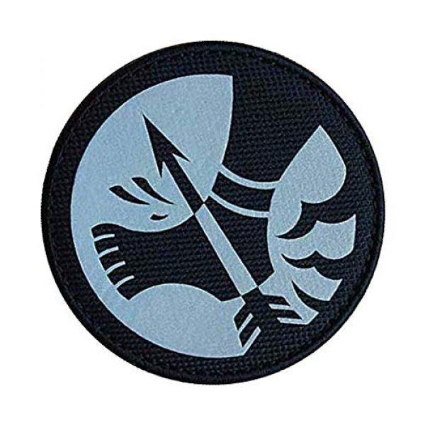"""Embroidery Patch Airsoft Morale Patch 3 SCP Foundation Special Containment Procedures Foundation SCP Mobile Task Forces Omega-12 Achilles' Heels"""" Military Hook Loop Tactics Morale Reflective Patch"""