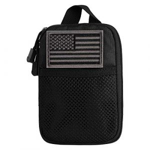 IronSeals Tactical Pouch 1 IronSeals Mini Tactical Molle EDC Compact Pocket Organizer Pouch with US Flag Patch