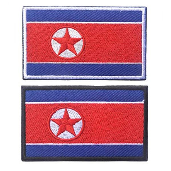 Tactical Embroidery Patch Airsoft Morale Patch 1 2pcs Korea Flag Embroidery Patch Military Tactical Morale Patch Badges Emblem Applique Hook Patches for Clothes Backpack Accessories