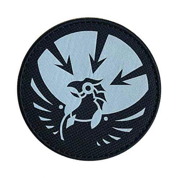 """Embroidery Patch Airsoft Morale Patch 3 SCP Foundation Special Containment Procedures Foundation SCP Mobile Task Forces Gamma-13 Asimov's Lawbringers"""" Military Hook Loop Tactics Morale Reflective Patch"""